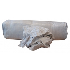 Konepyyhe valkoinen flanelli trikoo